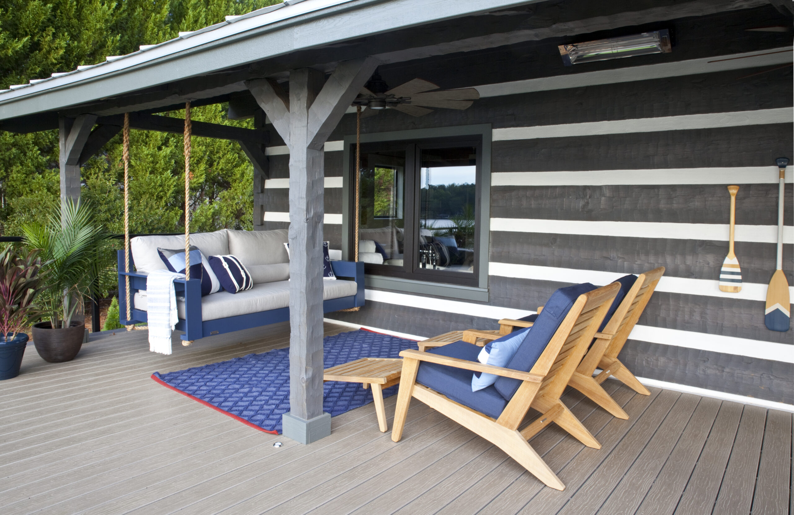 Shady relaxation spot outdoor living space design (Christina Wedge)
